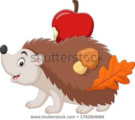 Adorable prickly cartoon hedgehog Stock photo © adrian_n