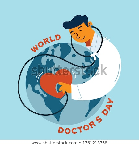 medical professionals with at sign and globe stock photo © photography33