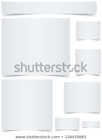 Standard sized blank web banners with curled edges effect Stock photo © tuulijumala