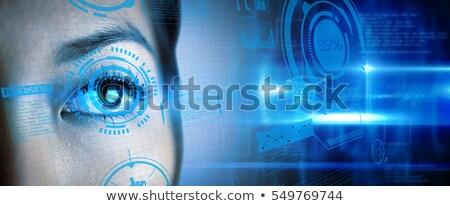 女性実業家 青い目 ポーズ 白 セクシー 女性 ストックフォト © wavebreak_media