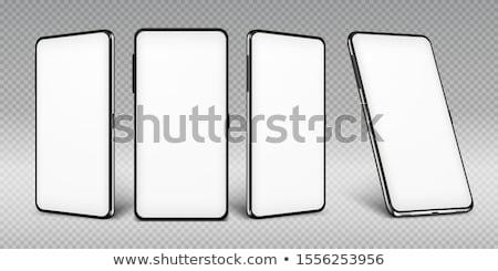 black smartphone isolated on white background stock photo © shutswis