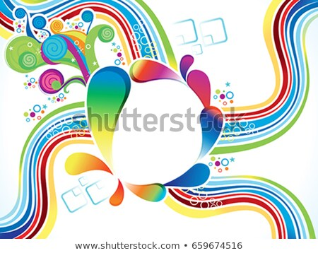 abstract explode circle with floral Stock photo © rioillustrator