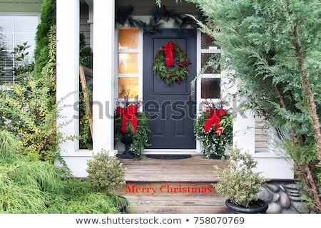 Plant decor in front of a house Stock photo © Julietphotography