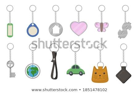 Macska alakú kulcstartó Stock fotó © zzve