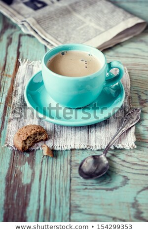 cookies and a cup of fresh coffee stock photo © avdveen