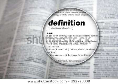 Communication definition in a dictionary Stock photo © sqback
