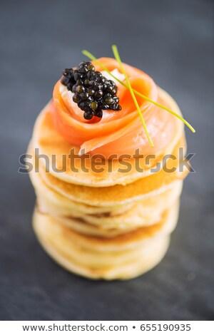 Saumon caviar alimentaire dîner fruits de mer crevettes Photo stock © Zerbor