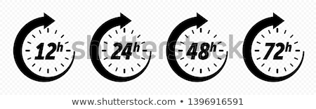 12 にログイン クロック 実例 セット ストックフォト © patrimonio