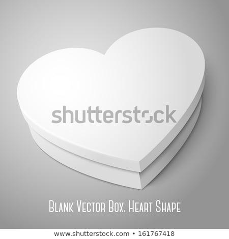 Grijs vak hartvorm witte gelukkig verjaardag Stockfoto © stoonn