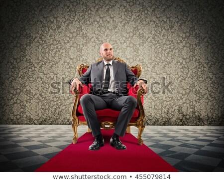 Człowiek tron 3D streszczenie ilustracja strony Zdjęcia stock © brux