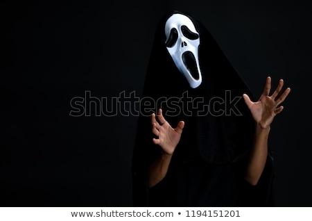 Zdjęcia stock: Człowiek · diabeł · kostium · halloween · uśmiech · sexy