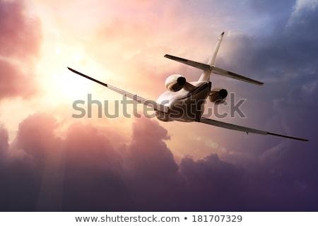 Stock photo: Jet plane and natur