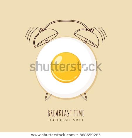 завтрак время воды торт оранжевый чай Сток-фото © natika