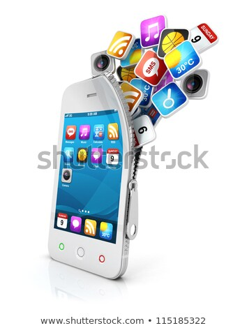 icon of message for web and mobile applications stock photo © robuart