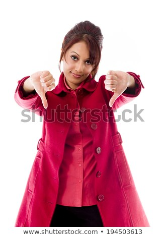 indian young woman showing thumbs down sign from both hands stock photo © bmonteny