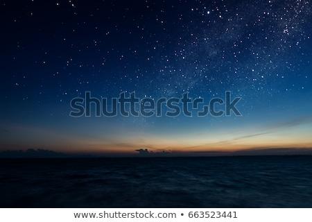 Mare panorama tramonto bella spiaggia cielo Foto d'archivio © Mikko