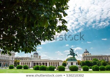 equestrian statue heldenplatz vienna austria stock photo © backyardproductions