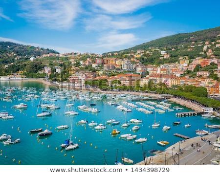 Lerici typical village, Castle and port in Liguria Stock photo © eddygaleotti