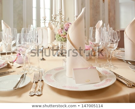 banquet table detail stock photo © kmwphotography