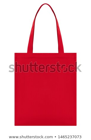 красный холст сумку изолированный белый текстуры Сток-фото © gavran333