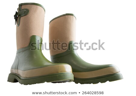 Fun wide low angle view of gardening boots Stock photo © ozgur