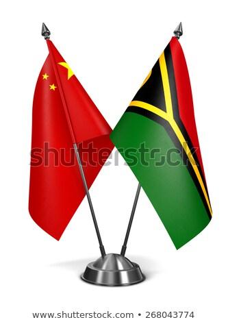 Cina Vanuatu miniatura bandiere isolato bianco Foto d'archivio © tashatuvango