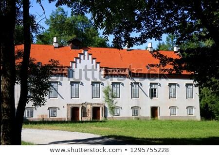Castelo Croácia nuvens grama edifício parede Foto stock © gsermek