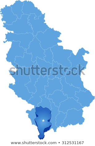 Map of Serbia, Subdivision Prizren District Stock photo © Istanbul2009