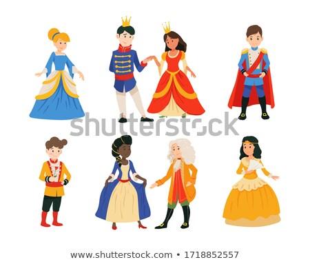 mooie · prins · prinses · gouden · kroon · textuur - stockfoto © oksvik