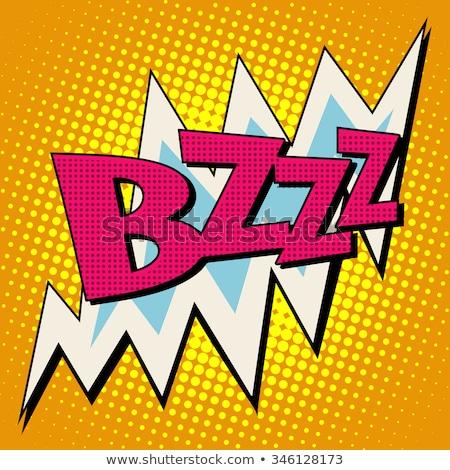bzzz voltage electricity energy comic bubble retro text Stock photo © studiostoks