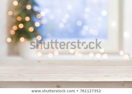 Elmosódott bézs ünnepek fények karácsony buli Stock fotó © dolgachov