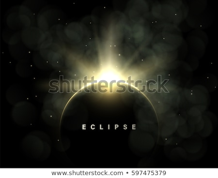 Solar Eclipse template Stock photo © beholdereye