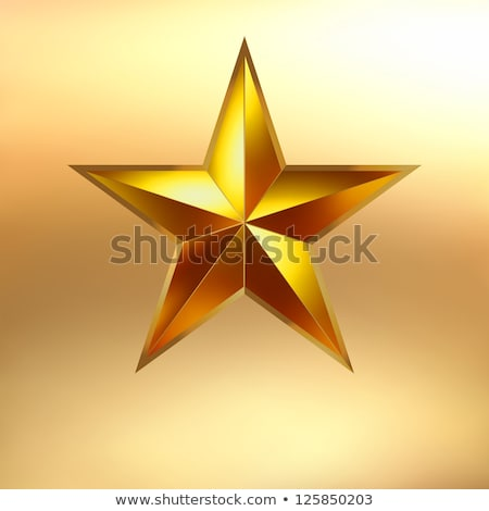 illustration of a Red star on gold. EPS 8 Stock photo © beholdereye