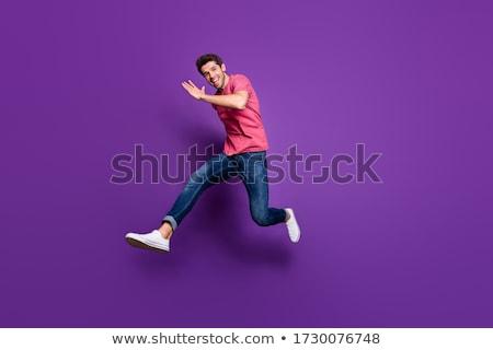 Stylish fashionable attractive young man, full lenght photo Stock photo © zurijeta
