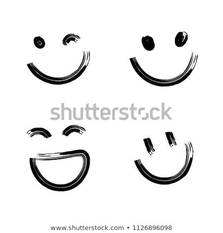 wink Smiley face in hands Stock photo © studiostoks