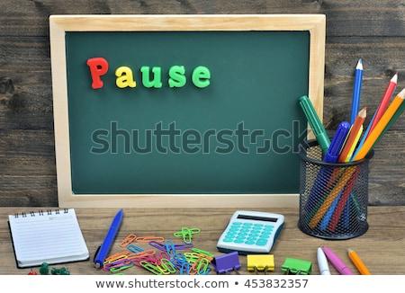 çalışmak · zaman · metin · okul · tahta · grup - stok fotoğraf © fuzzbones0