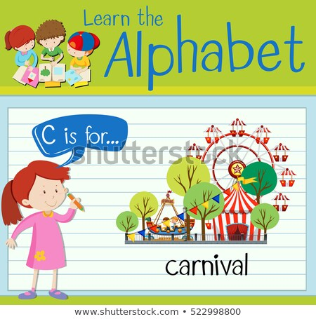 Flashcard alphabet C is for circus Stock photo © bluering