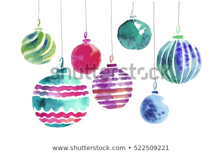 Assortment of bright colorful Christmas ornaments Stock photo © ozgur