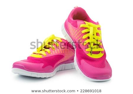 Stok fotoğraf: Siyah · kadın · ayakkabı · yalıtılmış · beyaz · doku