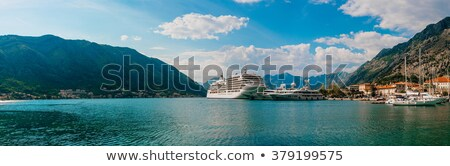 Cruise ship in Montenegro bay Stock photo © joyr