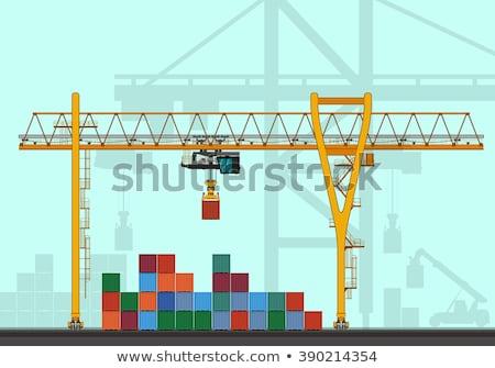 Guindaste carga transporte negócio indústria Foto stock © tracer