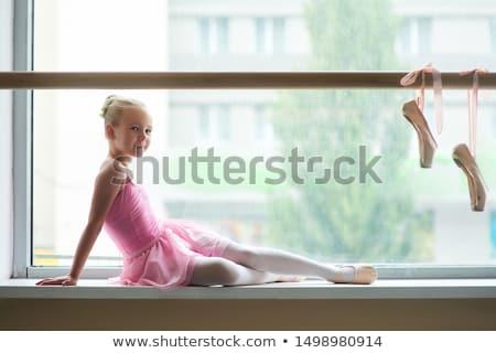 балерины танцы окна девушки бирюзовый балет Сток-фото © O_Lypa