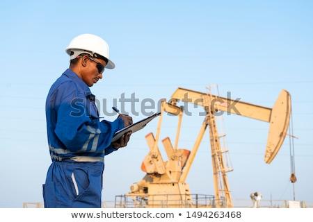 Ölquelle Himmel Arbeit Bereich Energie Stock foto © pedrosala