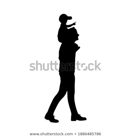 Cheerful father carrying his beloved son Stock photo © konradbak