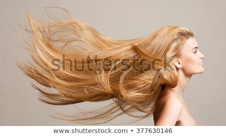 kapper · lang · zwart · haar · geïsoleerd · witte · handen - stockfoto © lithian