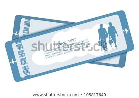 スチュワーデス 平面 チケット かわいい 漫画 作業 ストックフォト © ayaxmr