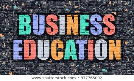 Business Education in Multicolor. Doodle Design. Stock photo © tashatuvango