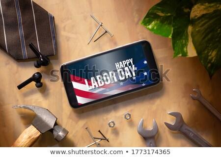 флаг · Соединенные · Штаты · день · окрашенный · щетка - Сток-фото © tab62