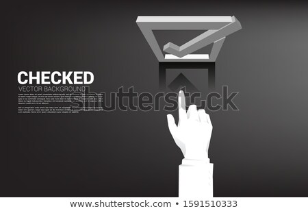 Hand Touching Be Positive Button. 3D. Stock photo © tashatuvango