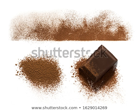 chocolate · escuro · bar · coberto · chocolate · pó - foto stock © deandrobot